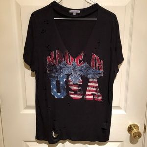 Made in USA choker 4th of July shirt redneck XL